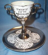 Lenwile Ardalt 25th Anniversary Goblet and Saucer #6438
