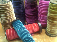 """STRETCH VELVET 1yd 5/8"""" RAYON HEADBANDS STRAPS Made in France"""