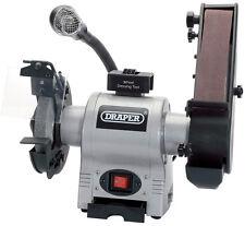 150mm 370w 230v Bench Grinder With Sanding Belt And Led Worklight