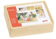 Puzzle Holzpuzzle Einlegepuzzle Würfelpuzzle Märchen im Holzkasten Goki 57877