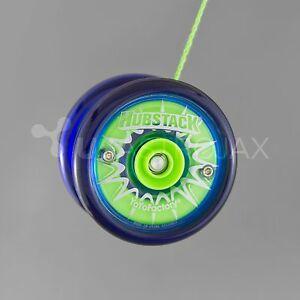 YoYoFactory Hubstack Yo-Yo - Blue/Green + FREE STRINGS