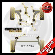 Ford Fiesta MK6 (02-08) Powerflex Schwarz Voll Buchsensatz Motorlager 25mm