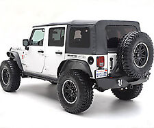 2007-2017 Jeep Wrangler Unlimited Factory Style Soft Top with Complete Hardware