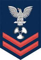 "Machinist's Mate ( MM ) 2nd Class E-5 Red Rank 5.5"" Sticker / Decal"