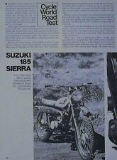 Suzuki 185 Sierra Motorcycle Road Test Article 1972