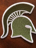 MSU Michigan State Spartans embroidered iron on patch  vintage 3""