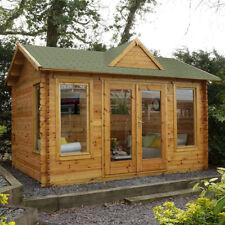 Forest Alderley 4m x 3m Log Cabin Outdoor Garden Room Office Building 34mm