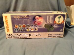 Sylvania The Magic of Christmas Holiday Projector With 12 Holiday Images