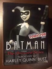 Harley Quinn B & W BUSTE DE BATMAN série animée, NYCC 2015 Exclusive, En parfait état, dans sa boîte