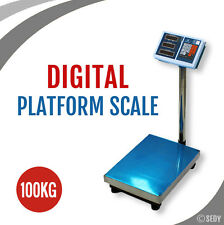 100kg Digital Platform Scale Rechargable Electronic Computing Weight Shop Weigh