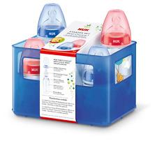NUK Disney Winnie First Choice+ Starter Set mit 4 Anti-Colic Weithalsflaschen