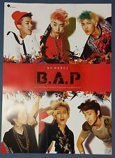 B.A.P - No Mercy (1st Mini Album) OFFICIAL  POSTER *HARD TUBE CASE* UNFOLD