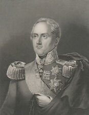1845 Fine Portraits - Frederick II, King of Saxony - Archduke Stephen of Austria