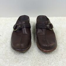 WOMANS SHOES ARIAT MULE SZ 8 B BROWN LEATHER COMFORT CLOGS 94266 SLIP ON WESTERN