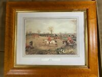 "English Fox Hunting Print - ""Full Cry"" - Henry T Alken (1810-1894) - Framed"