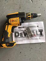 New DEWALT DCF620B 20 Volt MAX Li-Ion Brushless Drywall Screwdriver Drill w/Clip