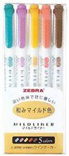 NEW Zebra Mild Liner Color Gel Ink Marker Pen Set WKT7 Japan Import F/S