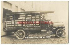 Great 1912 RPPC - WHOLESALE GROCERS DELIVERY TRUCK - C.A. Cross FITCHBURG MA