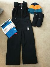 Boy's spyder Ski Salopettes & Gloves Age 4 Years