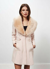 New Miss Selfridge Pink Flared Petite Princess Coat Perfect Condition