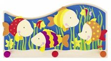 Garderobe Bunte Fische, Kindergarderobe aus Holz, Wandgarderobe