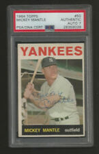 1964 TOPPS YANKEES MICKEY MANTLE AUTOGRAPH CARD PSA A AUTO 7