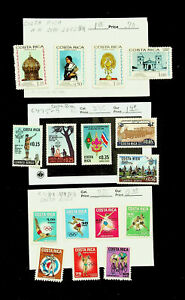 COSTA RICA SCOUT JAMBOREE OLYMPIC GAMES ART TREASURE 16v MNH STAMPS