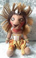 """The Lion King Simba Broadway MUSICALE Peluche Jouet Doux 11"""" excellent état"""