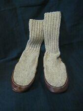 Acorn Ragg Wool Slipper Socks Made In Maine USA Unisex M 6-7 W 7.5- 8.5 VGUC