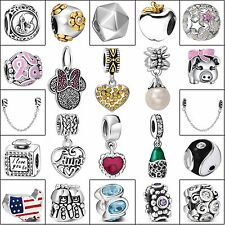 New Charms Bead Unique Jewelry Fit Handmade European 925 Silver Bracelets Chain