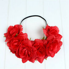 New Large Rose Flower Hair band Crown Festival Headband Garland Boho