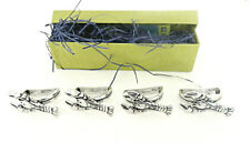 Lobster Pewter Napkin Rings Set of 4 Nautical Sea Made in Canada Gift Box