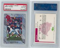 Brett Favre 1991 Classic Four 4 Sport #129 PSA 10 GEM MT Green Bay Packers / RC