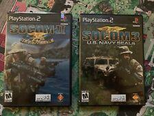 Navy Socom 2 And 3 Lot PS2