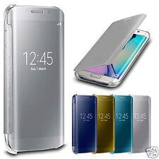 DE LUJO ESPEJO Inteligente Vista Transparente Funda libro para Samsung Galaxy S