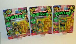 2021 Playmates Retro Teenage Mutant Ninja Turtles Raphael Michaelango Leonardo