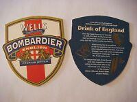 Beer Coaster: CHARLES WELLS Brewery Bombardier Premium Bitter ~ Bedford, ENGLAND
