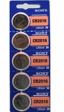 **FRESH NEW** 5 x SONY CR2016 Lithium Battery 3V Exp 2027 Pack 5 pcs Coin Cell