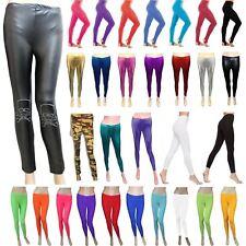 Ladies Leggings Luxury Plain Metallic Shiny Lycra Stirrup Cotton Party Pants