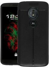 Custodia Similpelle Per Lenovo MOTO g6 play in nero custodia cover di protezione guscio per cellulare