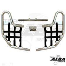 TRX 250EX 250X Honda   Nerf Bars  Alba Racing   Silver bar Black nets  220 T1 SB
