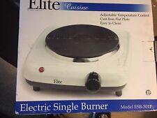Elite Cuisine ESB301F 1000 Watt Electric Single Burner. NIB -