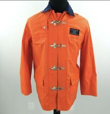 Women's RALPH LAUREN LS Orange Marine Supply Rain Jacket + RL67 Boating - M 1274
