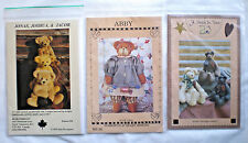 Lot of Uncut Teddy Bear Sewing Patterns