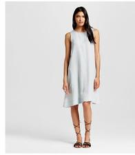 New Nitrogen Women's Sleeveless Tencel Swing Dress Ice Blue Nitrogen size small