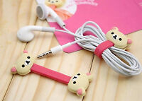 2pcs Earphone Cord Winder Wrap Organizer Earbud Cable Ties Holder Storage Line
