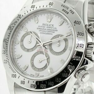 ROLEX DAYTONA STAINLESS STEEL 40 MM WHITE DIAL OYSTER BAND 116520
