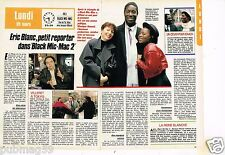 Coupure de presse Clipping 1988 (2 pages) Eric Blanc Black Mic-Mac