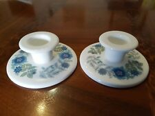 Wedgwood Clementine Kerzenhalter Paar Bone China Made in England