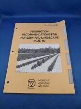 PRODUCTION RECOMMENDATIONS FOR NURSERY AND LANDSCAPE PLANTS BOOK MINISTRY FOOD